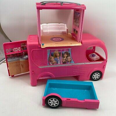 2014 Barbie Dream Camper Van RV Motor Home INCOMPLETE