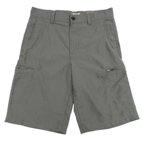 Urban Pipeline Youth Cargo Shorts Size 18 Adjustable Waist Pockets Gray