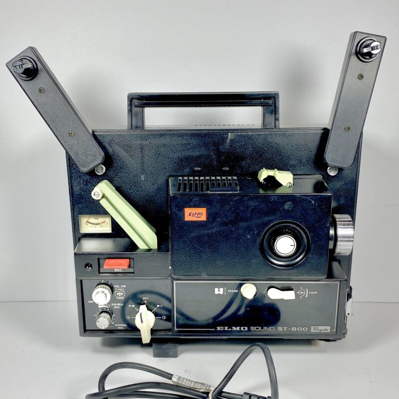 ELMO ST-800 Sound Movie Projector Vintage Home Video Equipment From Japan EUC