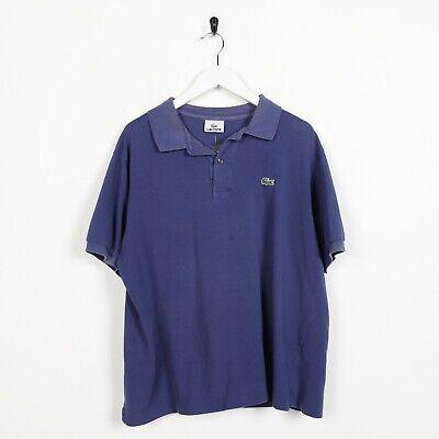 Vintage Lacoste Pequeño Logo Polo Azul Grande L segunda mano  Embacar hacia Spain