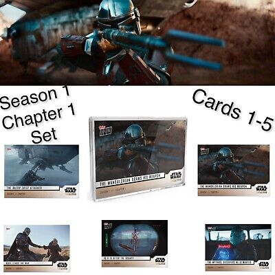 2019 Topps Now Star Wars Mandalorian Season 1 Chapter 1 Complete Set of 5 Cards