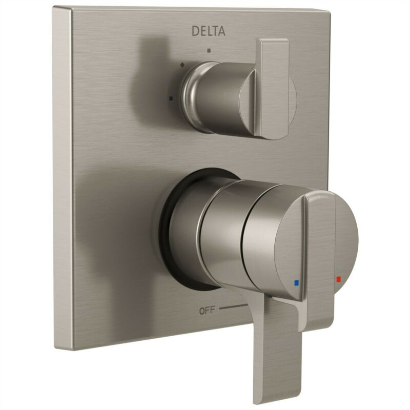 Delta Ara Stainless Steel Shower Control with 3-Setting Diverter & Valve D2169V
