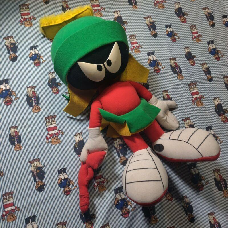 "Vintage 1994 Marvin the Martian 22"" Warner Bros Looney Tunes Plush Huge Ray Gun"