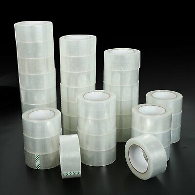 36 Rolls 1.9x110 Yards330 Ft Box Carton Sealing Packing Package Tape Clear