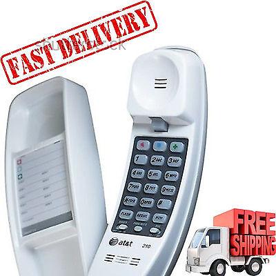 Corded Telephone Home Desk Wall Mount Landline White Handset Trimline Phone New Desk Mount Corded Telephone