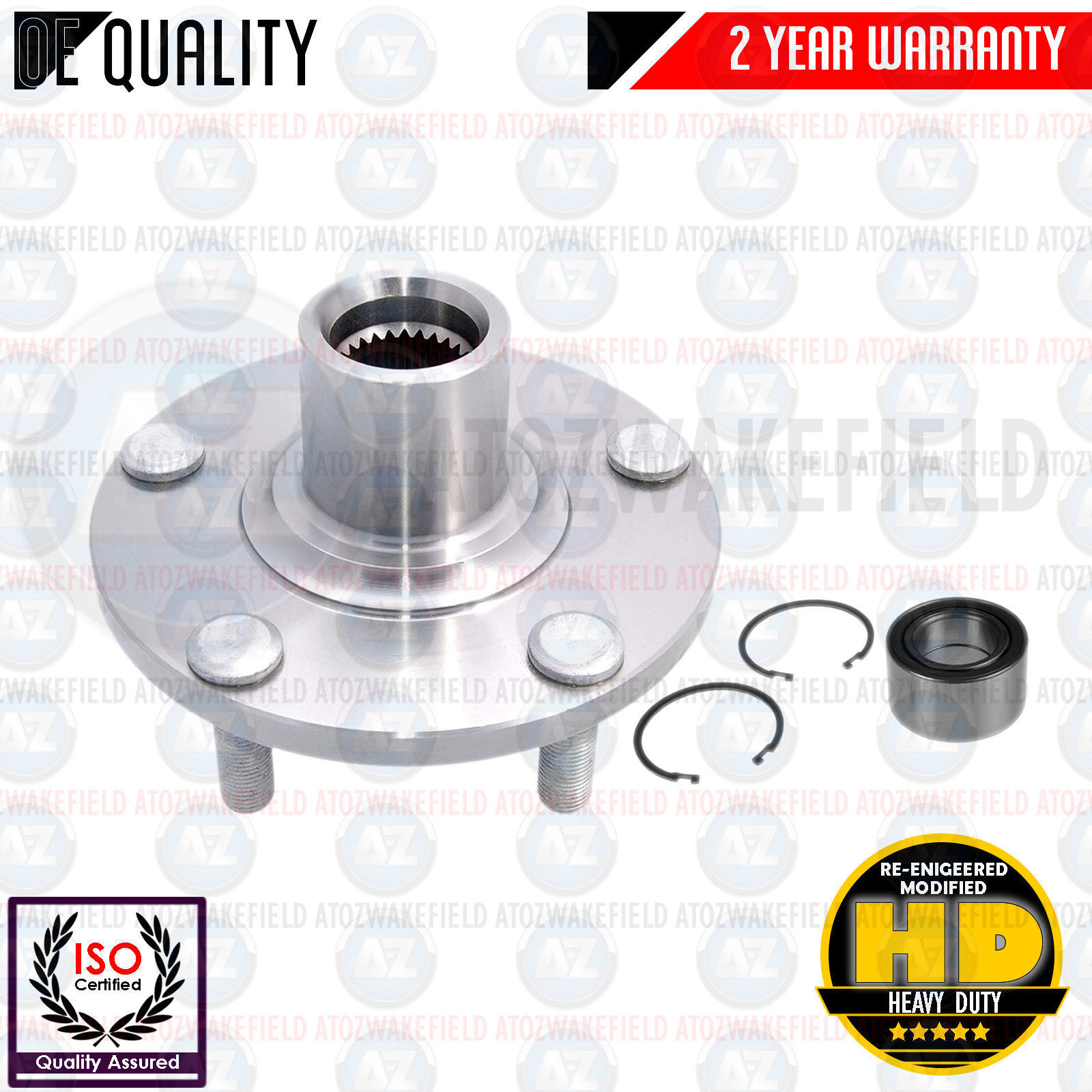FOR NISSAN T30 X-TRAIL 2.0 2.2 2.5 DCi FRONT WHEEL BEARING HUB FLANGE KIT NEW