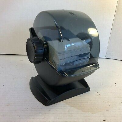 Rolodex File Swivel Base Large Size Card Size 4 X 2.25 In Great Condition