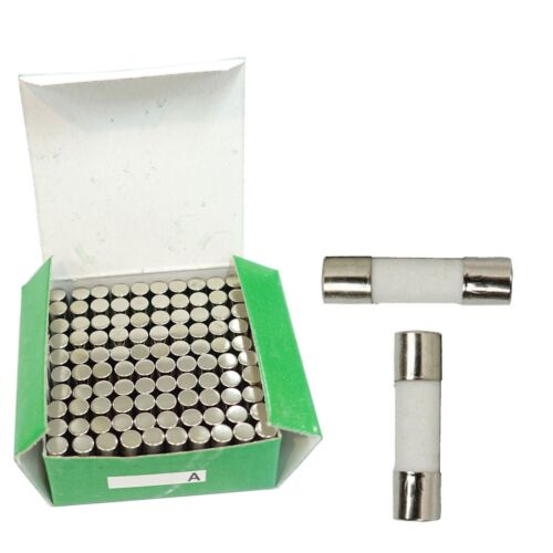 15A 250V/125V Quick Fast Blow Ceramic Tube Fuse (100x) 15 Amp 5mm x 20mm 5x20mm