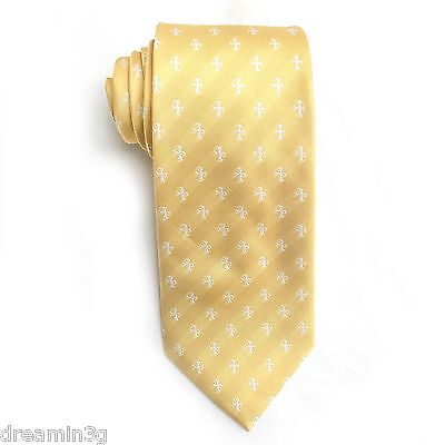 Sigma Chi Yellow Cross Design Tie   Brand New Product