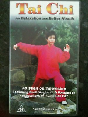TAI CHI for BETTER HEALTH with BRETT WAGLAND & FONTANE IP ~ AS NEW VHS VIDEO