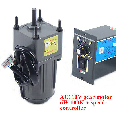 6w Ac Gear Motor Speed Governor Reducer 1100 100k 1-phase 13.5rpm Stock