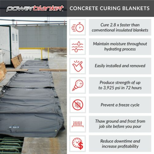 Concrete Curing - Powerblanket MD0304 Concrete Curing Electric Blanket, 3
