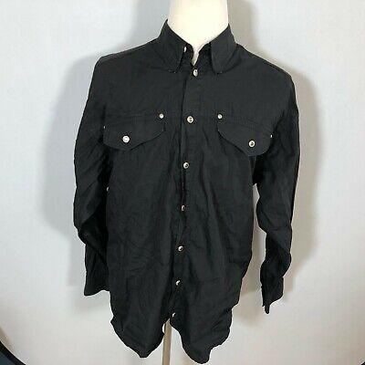 Versace Classic V2 Men Long Sleeve Button Down Shirt Top Size XL Black - F33