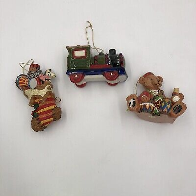 Set Of 3 Christmas Tree, Stocking, Choi-Choi Train, Teddy Bear