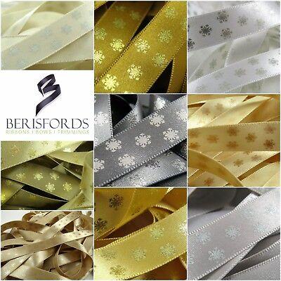 Berisfords 15mm Metallic Polka Snowflake Christmas Ribbon - Multi Save Discount](Discount Ribbon)
