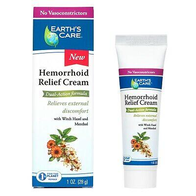 Earth's Care® Hemorrhoid Relief Cream 1 OZ / No Vasoconstrictors or Parabens