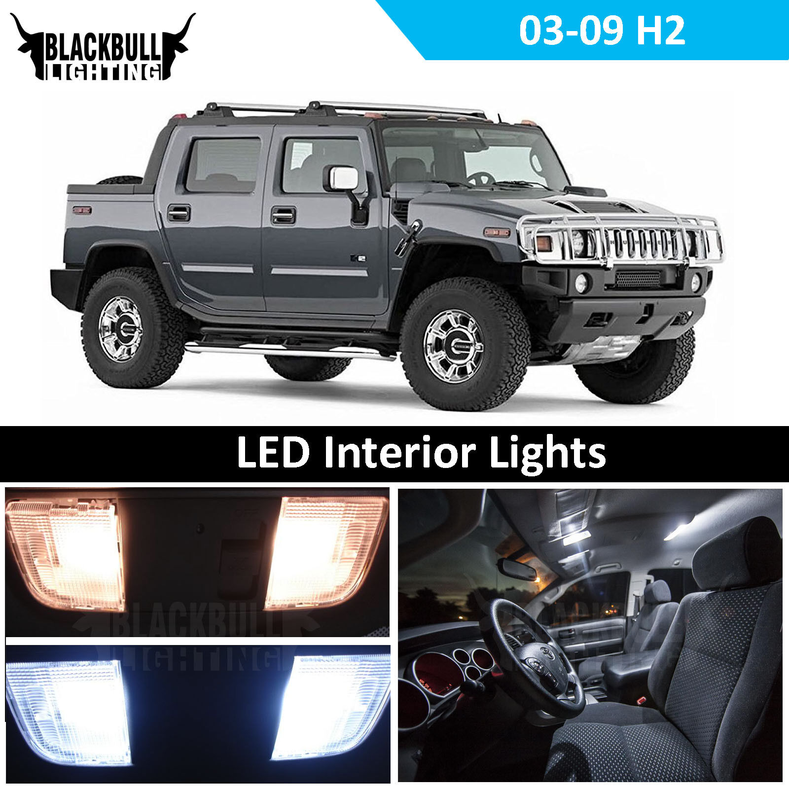 Details about White Interior LED Light Accessories Package Kit for  112-112 Hummer H12 12 Bulb | accessories for h2 hummer