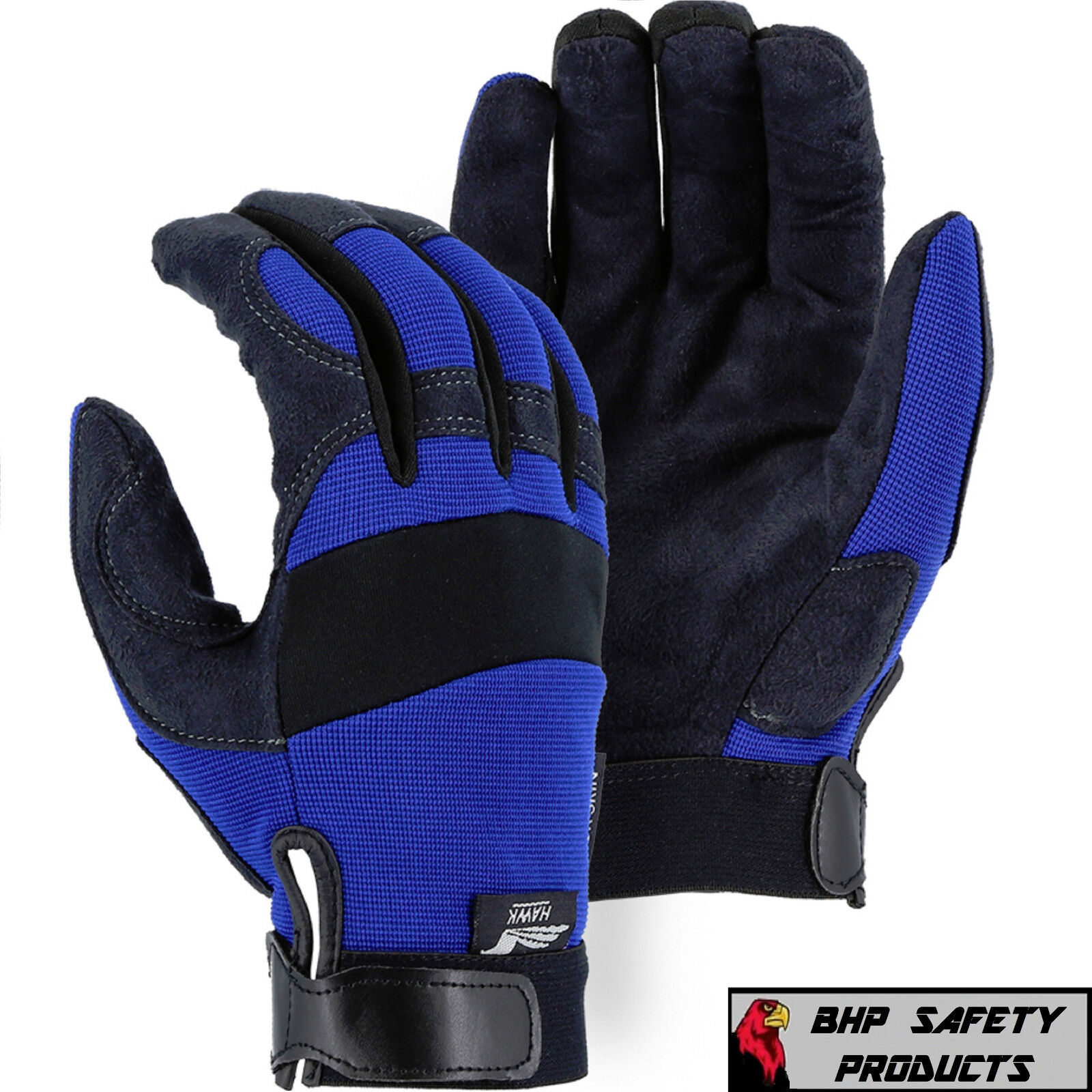 Mechanics Work Gloves Synthetic Leather Amorskin, Majestic G