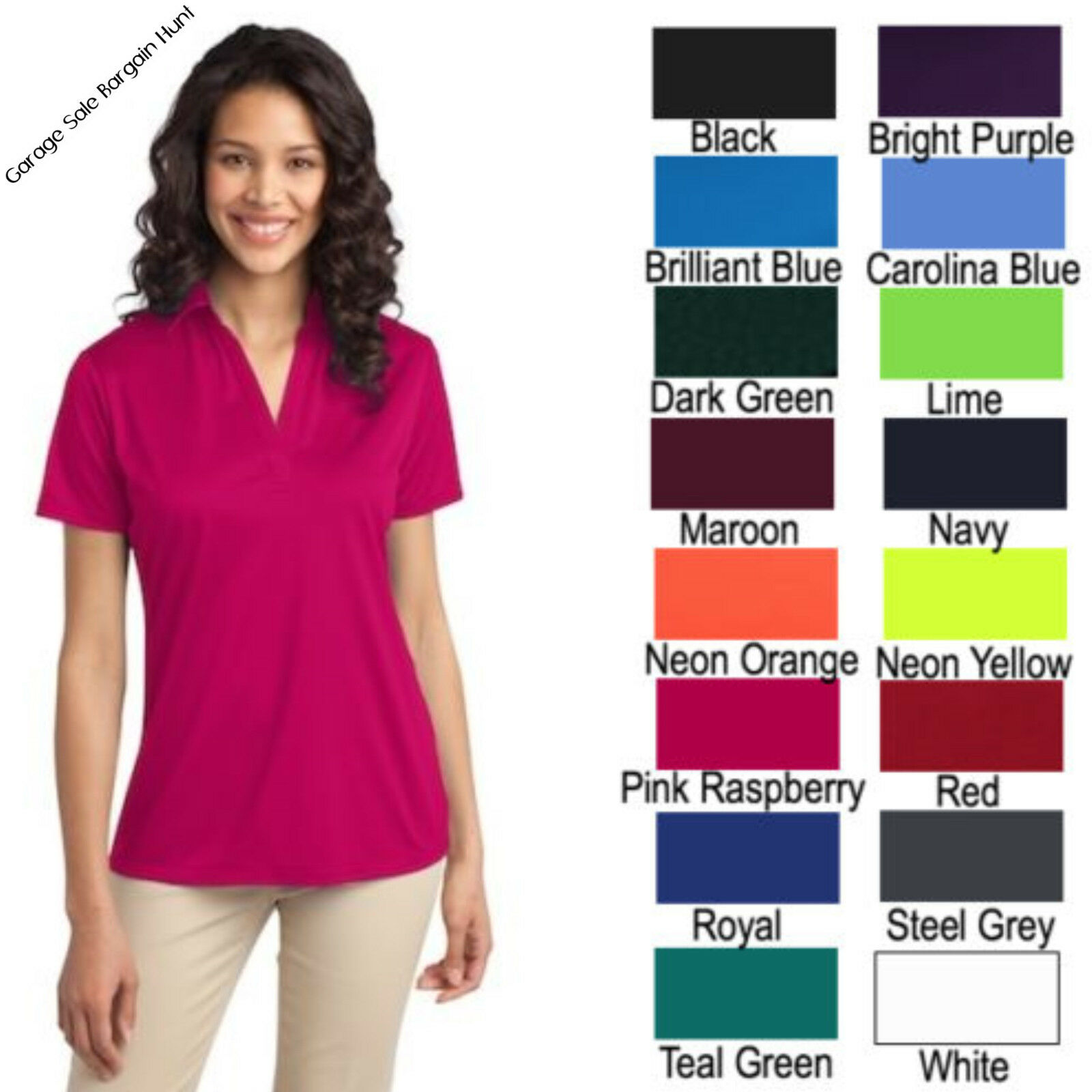 f66c2f5ac12dc Ladies Port Authority Silk Touch Performance Polo Shirt - BCD Tofu House