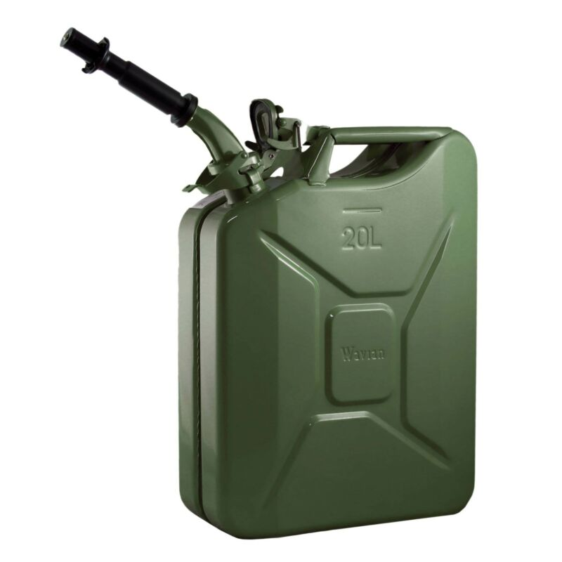 Wavian 3008 5.3 Gallon 20 Liter Jerry Can, Green (Used)