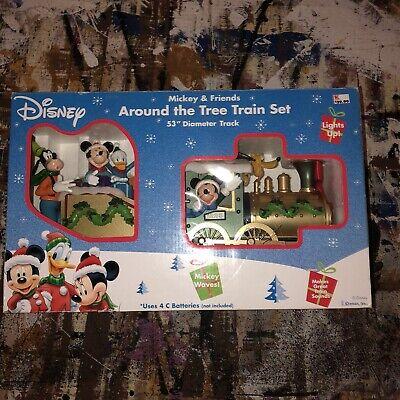 New 1997 Disney Mickey & Friends Goofy Around The Tree Christmas Train Set Roman