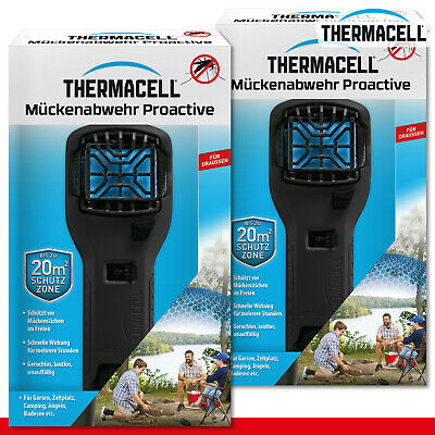 Thermacell 2 X Hand Tool Mosquito Repellent Proactive MR-300 Black Stichfrei