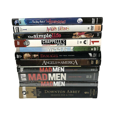 Lot of 11 DVD TV Season Boxsets: Madmen, Downton Abbey, Absolutely Fabulous ++++