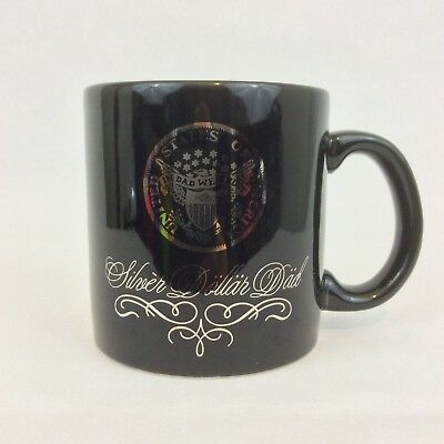 "Vintage Applause Coffee Mug Cup Black ""Silver Dollar Dad""  ""In Dad We Trust"" for sale  Branford"