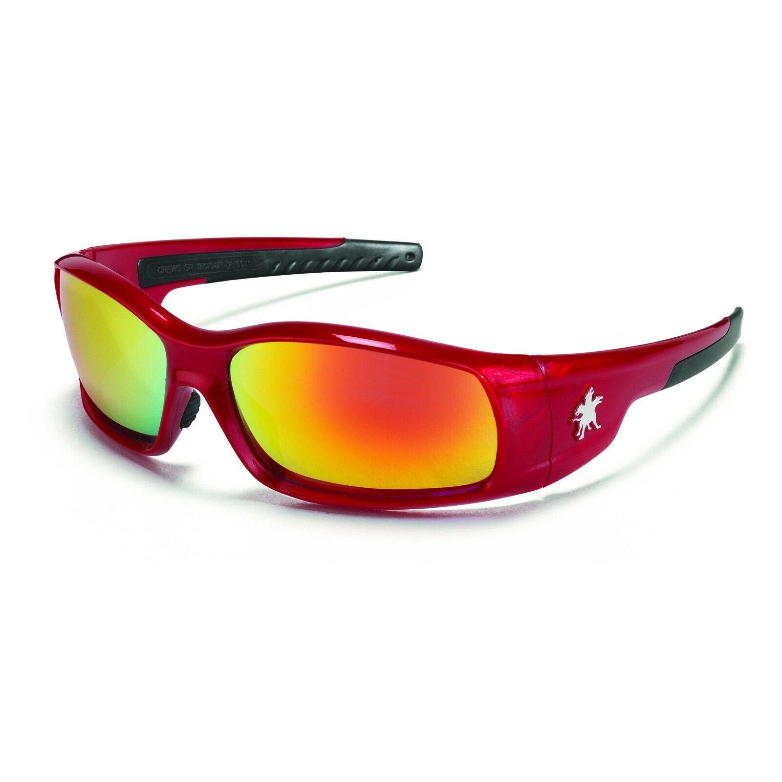 MCR Safety/Crews SR13R Red Frame – Red/Orange Mirror Safety Glasses Business & Industrial