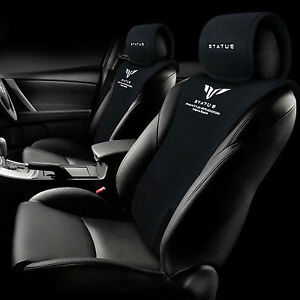STATUS Car Waist Back Cushion Special Seat Cover For All Vehicle 4Seasons Black