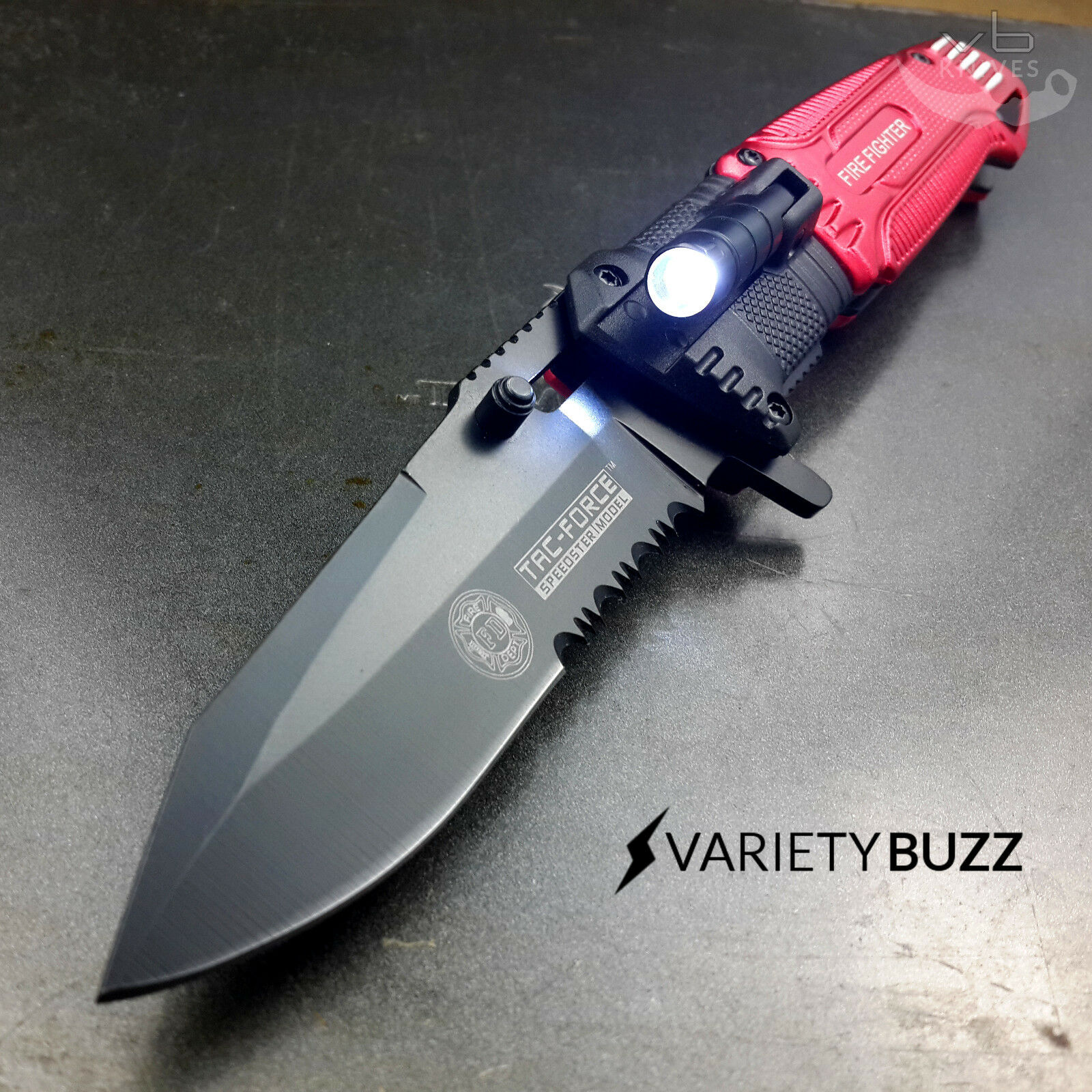 Black EDC Spring Assisted LED Multifunction Pocket Knife Survival MULTI TOOL New