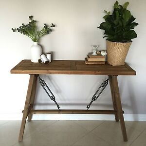 Timber Console/Hall Table/Stand/Shelf*Industrial/French Country