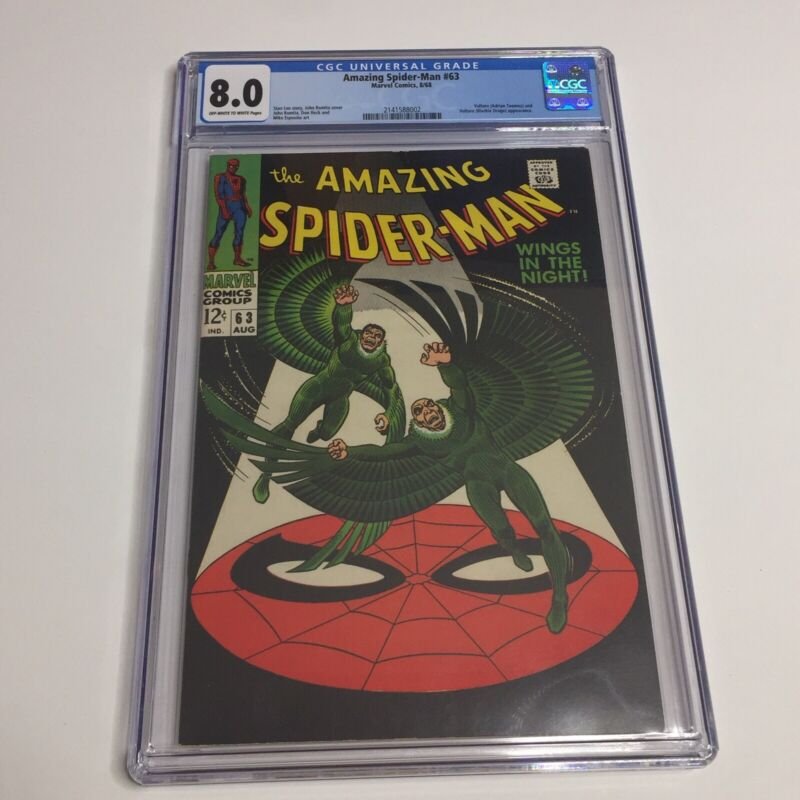 Amazing Spider-Man #63 - Marvel 1968 CGC 8.0 Vulture (Adrian Toomes) and Vulture