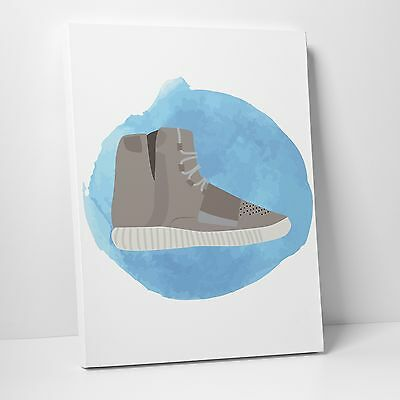 (NOT SNEAKERS!) Art Gallery Canvas- Aquarelle: Addidas Air Yeezy 750 Boost