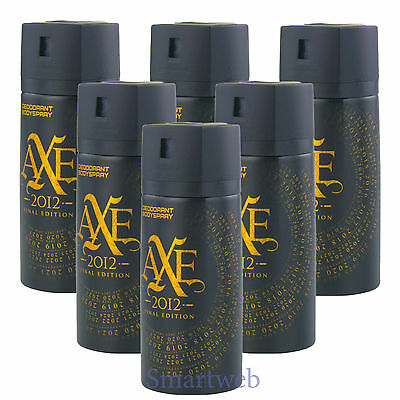 6 x 150ml Axe Final Edition Deo Deospray Deodorant Bodyspray Herrendeo (Axe Body Spray)
