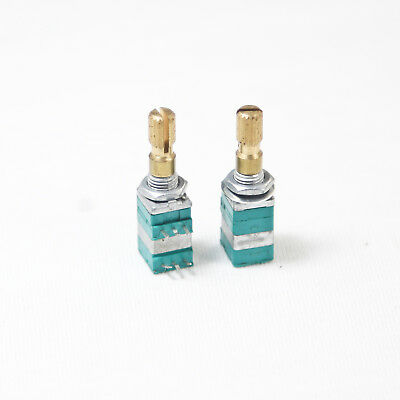 2 X 9mm B10k 10k Linear Taper Potentiometer 20mm Shaft Dual-gang W. Pull Switch