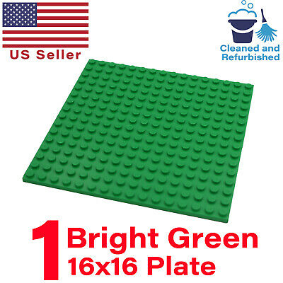 "Lot of 1 GENUINE LEGO Green Color 16x16 Stud Base Plates Pack 5""x5"" 16x16 Studs"