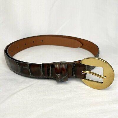 Orciani Leather Belt Croc Embossed Style Size 90 / 36 - Claudio Gator Italy
