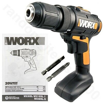Worx Wx169l 20-volt Lithium-ion 38 In Drill Driver With Driver Bits - Tool Only