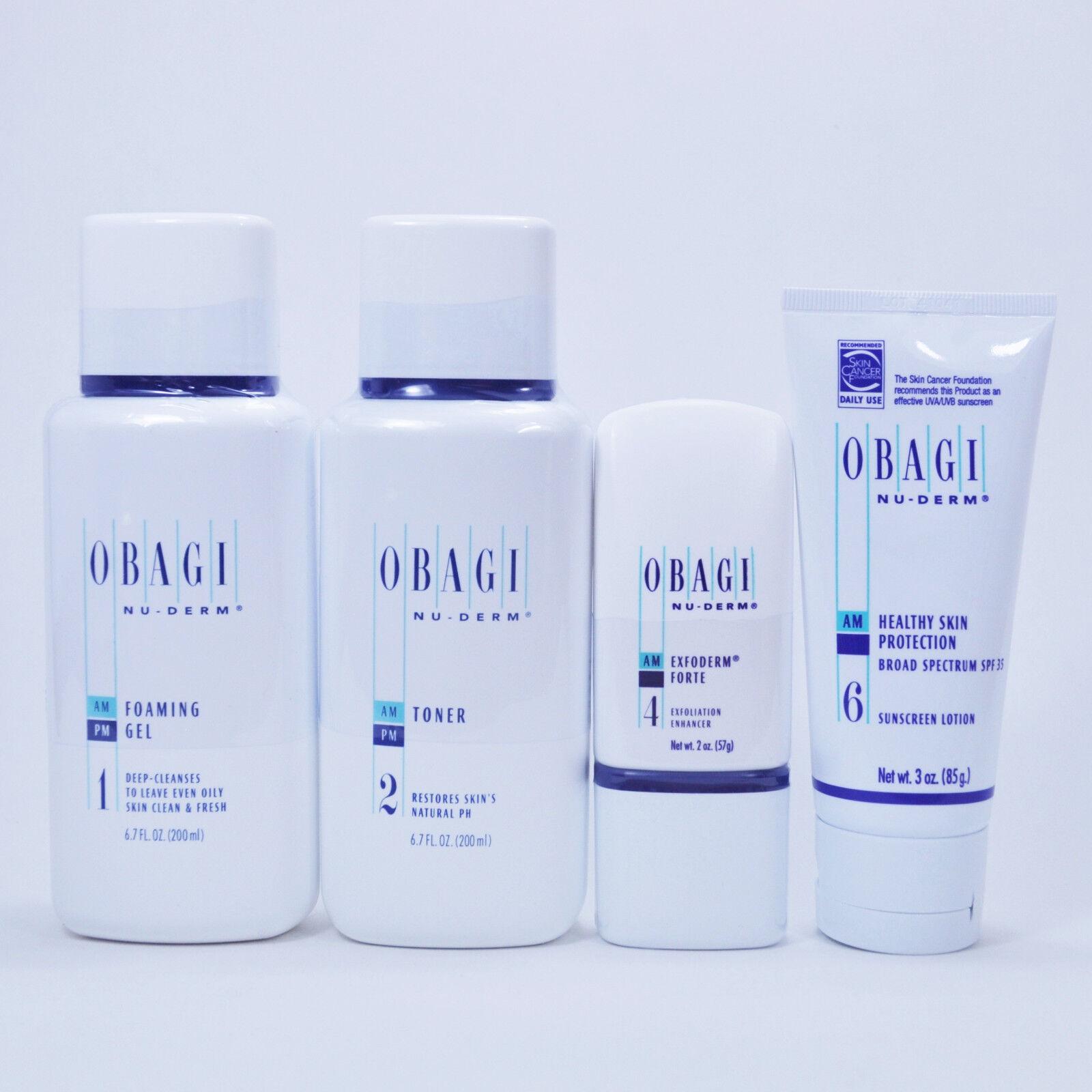 Obagi Nu Derm Kit Of 4 For Oily Skin Foaming Gel Toner