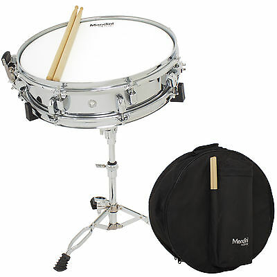 """Mendini by Cecilio Student 14"""" Snare Drum Set with Soft Case, Drum Sticks, Stand"""