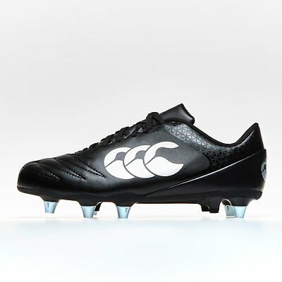 Canterbury Mens Stampede 2.0 Soft Ground Rugby Boots Sports Shoes Studs Black