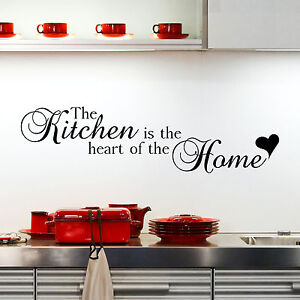 The Kitchen Is The Heart Of The Home Wall Sticker Quote