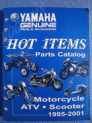 (YAMAHA 1995 - 2001 PARTS CATALOG MANUAL MOTORCYCLE ATV SCOOTER LIT-10081-20-01)