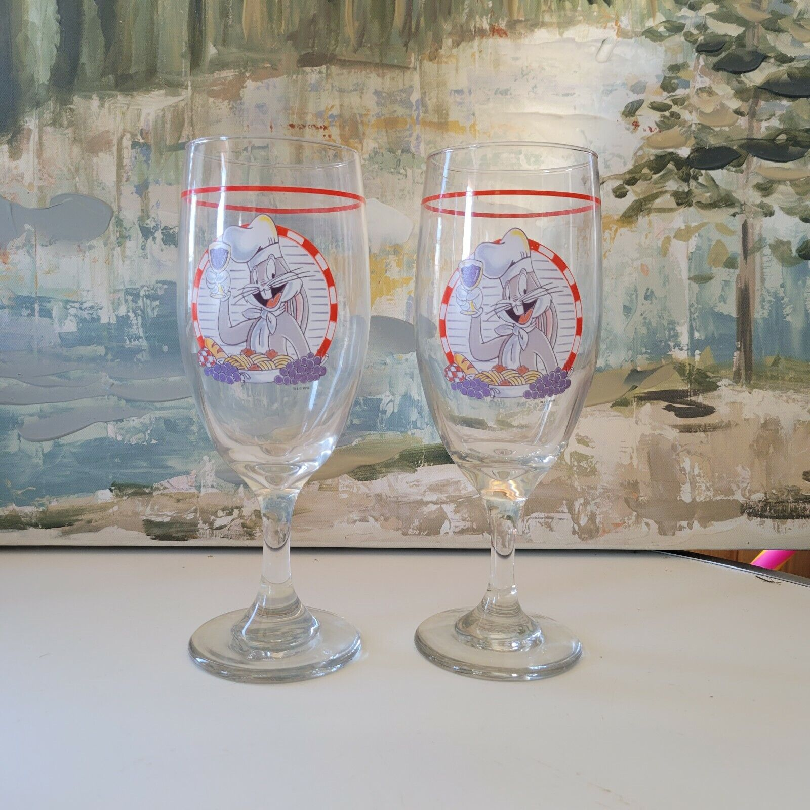 Bugs Bunny Looney Tunes Collectible Wine Glass - $19.00