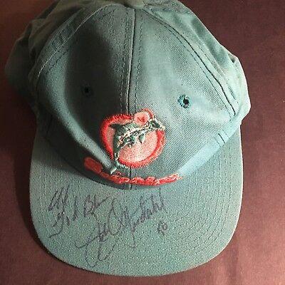 JOHN OFFERDAHL AUTO. NFL DOLPHINS CAP W/GOD BLESS #56