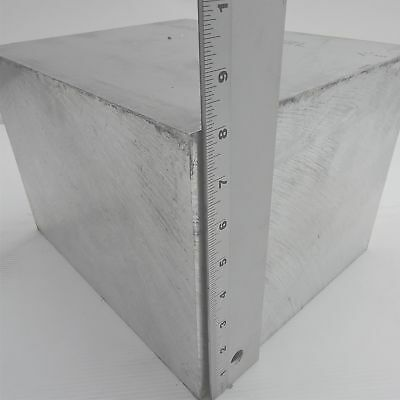 """2.5/"""" thick 6061 Aluminum PLATE  4.4375/"""" x 7.9375/"""" Long Solid  Stock sku 122259"""