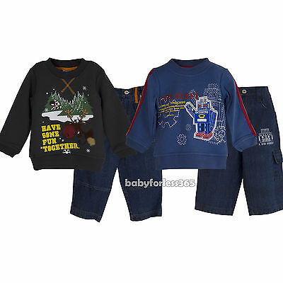 Christmas Toddler Baby Boys Pullover & Jean Pants outfits Size 12 months 2T 3T - 3t Boy Christmas Outfit