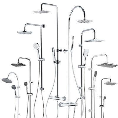 Colonna doccia saliscendi ottone cromato soffione miscelatore termostatico bagno