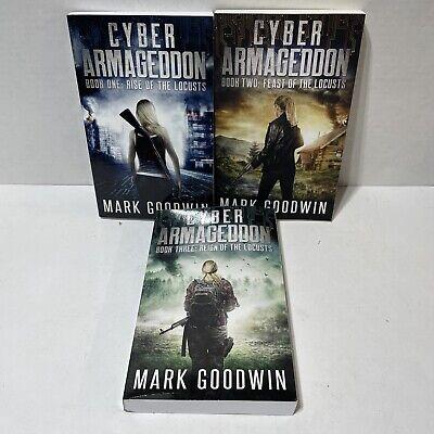 Cyber Armageddon Mark Goodwin Book 1-3 Post-Apocalyptic Techno Thriller SC